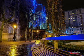 in pictures preston u0027s christmas lights sparkle even on a rainy