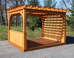 pergola with privacy wall build your own pergola images about