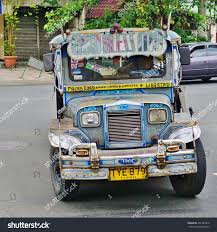 jeepney interior philippines manila philippines circa jan 2015colorful old stock photo