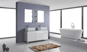 avola 56 inch modern double bathroom vanity tempered glass top