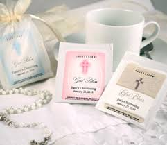 baptism party favors custom tea bag christening or baptism favors