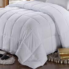 white goose feather down comforter 100 cotton all season oversize