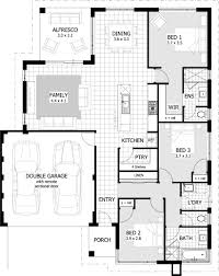 One Bedroom Bungalow Floor Plans by 3 Bedroom House Floor Plan Home Design Ideas