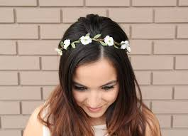 flower hairband white flower headband wedding ideas