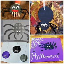 Halloween Craft Kids - cutesy spider crafts to make for halloween crafty morning