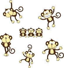 Nursery Wall Decals Animals by Monkeys Nursery Wall Decals Baby Cute New Mural Jungle Animal