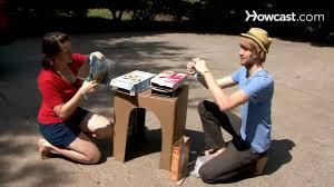 How To Make A Cardboard Desk How To Make A Cardboard Desk Youtube