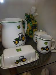 John Deere Home Decor A John Deere Kitchen Set Coming With Cream And Sugar Butter Dish