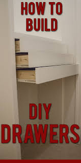 step by step instructions to build diy wooden drawers for