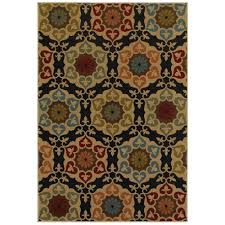 home decorators area rugs home decorators collection amelia medallion black 5 ft 3 in x 7