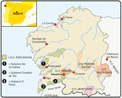 Spain Regions Map by Ribeiro U2013 More Excitement From Galicia Quentin Sadler U0027s Wine Page