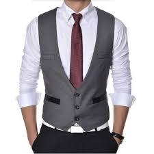 vestss high quality vest suit single breasted formal mens