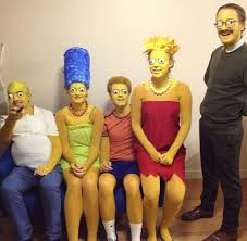 diy simpsons family halloween group costume idea diy halloween