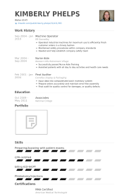 cnc machine operator resume format resume format for computer