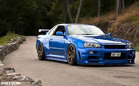 blue nissan gtr wallpaper import cars with background google search marketing design