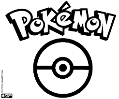 pokemon logo coloring pages free pokemon logo coloring pages