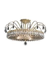 crystal semi flush mount lighting schonbek fl7769 fontana luce 19 inch wide semi flush mount capitol