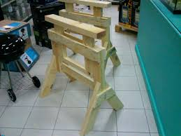 perfect sawhorses adjustable and knock down design 6 steps with