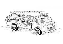 printables toddlers fire truck coloring