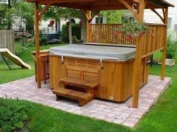 Backyard Garage Ideas Hot Tub Landscaping Idea U2013 Seoandcompany Co