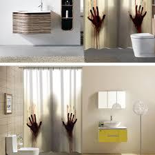 bloody hand horror custom shower curtain bathroom decoration scary