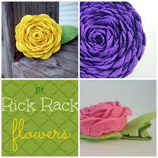 rick rack ribbon 380 best crafts rick rack images on fabric flowers