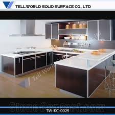 Kitchen Cabinet Factory Modern Factory Custom Solid Surface Modular Kitchen Cabinet