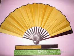 held fan 8 10 high quality plain yellow folding silk props fans