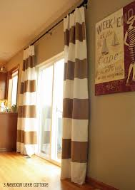 Brown And White Striped Curtains And White Striped Curtains Drapes Adds Pattern To An Entrance