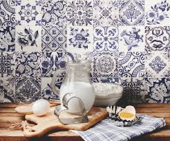 Blue Tile Kitchen Backsplash Good Blue And White Kitchen Tiles On Kitchen With 7 14320 Simply
