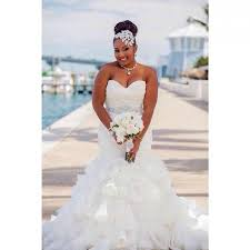dh wedding dresses stunning mermaid organza plus size wedding dresses ruffles pleated