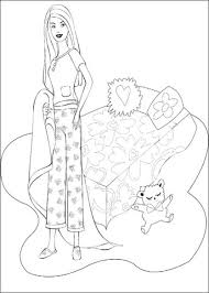 teenager barbie coloring free printable coloring pages