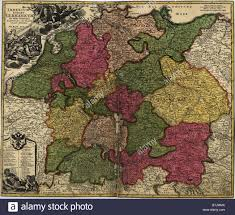 German States Map Map Of German States Then The Holy Roman Empire From The Early