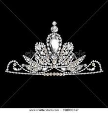 tiara collection diamond tiara vector stock vector 66153277