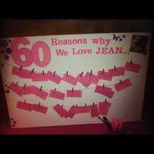 surprise 60th birthday 60 reasons we love party ideas 60th birthday kaartjes en