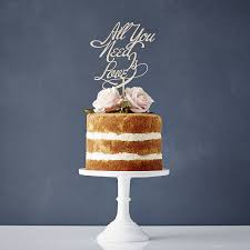 all you need is cake topper all you need is wooden wedding cake topper by