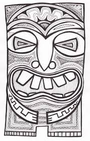 tiki mask drawing images reverse search