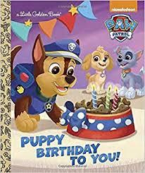 puppy birthday paw patrol golden book golden