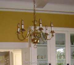 Spray Painting Brass Light Fixtures The End Loft Spray Painting A 1990 S Brass Chandelier