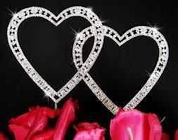 letter wedding cake toppers vintage swarovski heart wedding cake topper