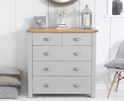 Bedroom Furniture Norwich Sandringham 3 2 Oak Grey Painted Chest 303019 499 00