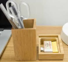 Desk Pen Holder Bamboo Wood Desk Pen Pencil Holder Feelgift