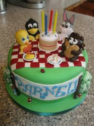 baby looney tunes picnic cakecentral