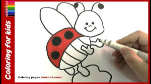 coloring pages for toddlers how to draw and color simple ladybug