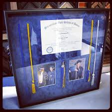 custom graduation tassels custom framed diploma shadowbox including tassels and photos