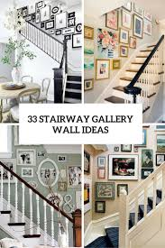 Ideas For Staircase Walls Great Ideas For Staircase Walls 33 Stairway Gallery Wall Ideas To