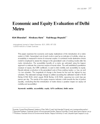 Delhi Metro Rail Route Map Pdf by Economic And Equity Evaluation Of Delhi Metro Pdf Download Available