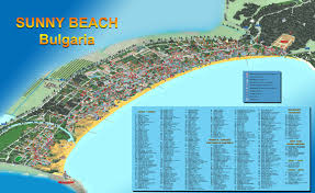 Map Of Bulgaria Sunny Beach Hotels Restaurants Night Clubs Bulgaria