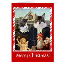 funny cat christmas cards u0026 invitations zazzle co uk