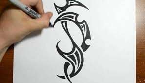 cool tribal designs to draw drawing a cool tribal design